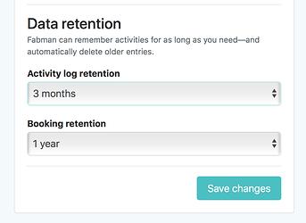 Storage restrictions